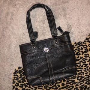 Pebbled Leather Coach Purse (Black)